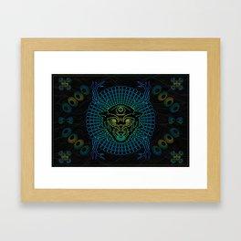 Space Wolf. Framed Art Print