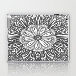 Flower Kaleidoscope Grays Laptop & iPad Skin