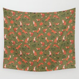 Fox Pattern (large) Wall Tapestry