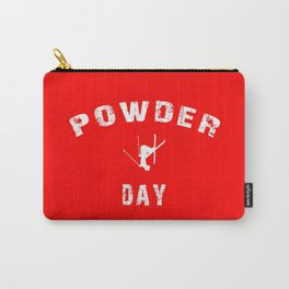 Powder Day Red Carry-All Pouch