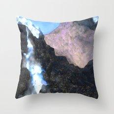 Canadian Mountain Scene Throw Pillow