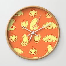 Crazy Pumpkin Party Wall Clock