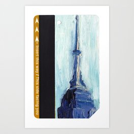 Subway Card Empire State Building No. 1 Art Print