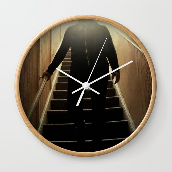 Stairway to the dark side _ vader descending  Wall Clock