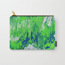 Green & Silver  Carry-All Pouch