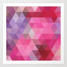 Positive Vibes Pink Geometric Print Art Print