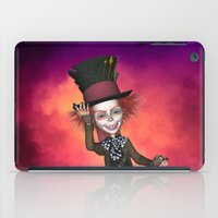 mad hatter iPad Cases featuring Mad Hatter by apgme