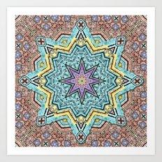 Shell Star Mandala Art Print