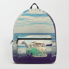 NEVER STOP EXPLORING THE BEACH Backpack