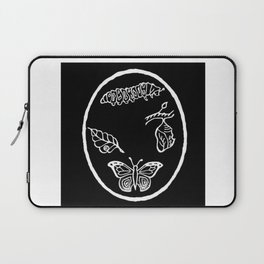 Butterfly Life Cycle Illustration Laptop Sleeve