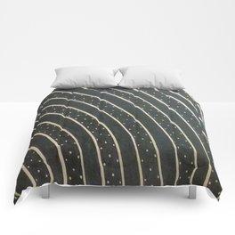 Dotted Soundwaves Comforters