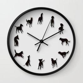 Dog Clock Wall Clock