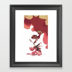 For the Rose Bride Framed Art Print