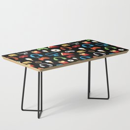 Video Game Party Snack Pattern Coffee Table
