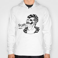 punk rock Hoodies featuring PUNK by Callum Longworth