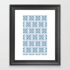 Blue Tile Patterns Framed Art Print