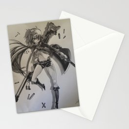 Tasha female manga art Stationery Cards