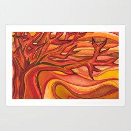 The Tree on Fire Art Print