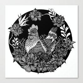 """Inktober, Day 5 """"Chicken"""" #inktober #inktober2018 Canvas Print"""