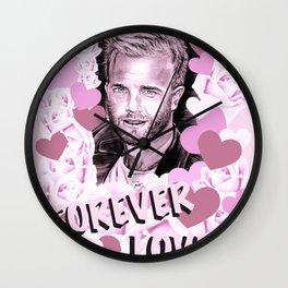Gary Forever Love Wall Clock