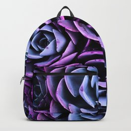 Succulent Garden Pink Purple Periwinkle Backpack