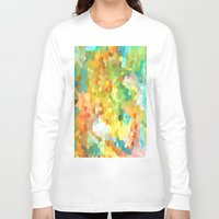 splatter Long Sleeve T-shirts featuring Paint Splatter by Rosie Brown