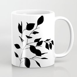 Black Leaves Coffee Mug