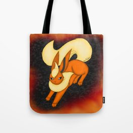 Flames of fire Tote Bag