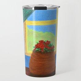 Roses in the Window Travel Mug