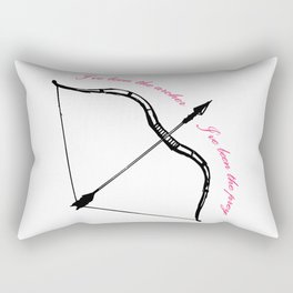 I've Been The Archer Rectangular Pillow