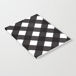 Contemporary Black & White Tilt Gingham Pattern - Mix & Match With Simplicty Of Life Notebook