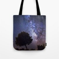 milky way Tote Bags featuring Milky Way by FRPhotography