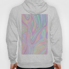 Liquid Colorful Abstract Rainbow Paint Hoody