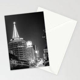 Christmas in Hollywood - day one b&w Stationery Cards