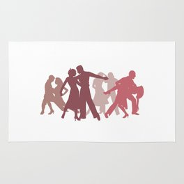 Latin Dancers Illustration Rug