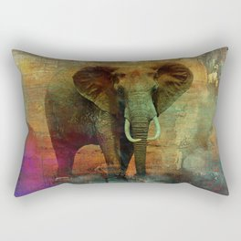 Abstract Grunge Elephant Digital art Rectangular Pillow