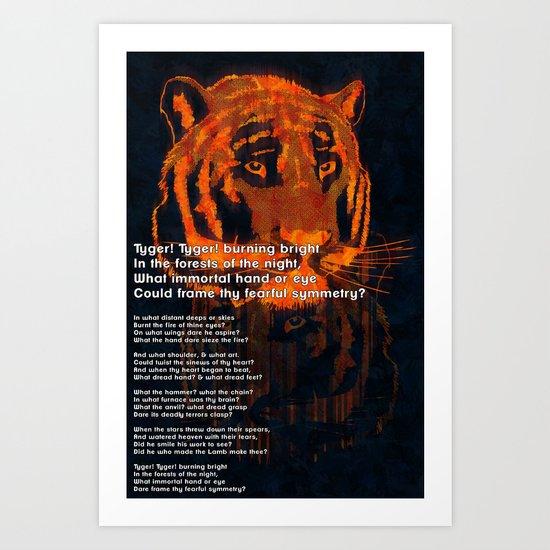 Thy Fearful Symmetry  Art Print