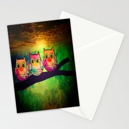 owl-193 Stationery Cards