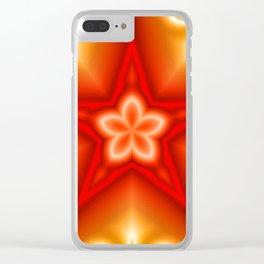 Starflower Clear iPhone Case