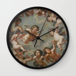 Angels - Peter Paul Rubens Wall Clock