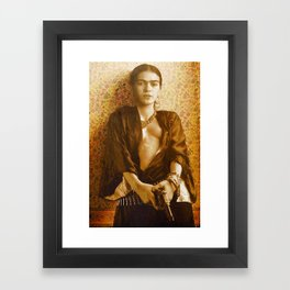Frida Gun Framed Art Print
