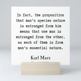 59  | Karl Marx Quotes | 190817 Mini Art Print