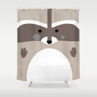 raccoon Shower Curtains featuring Raccoon by Art Studio