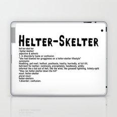 Helter Skelter (black on white) Laptop & iPad Skin