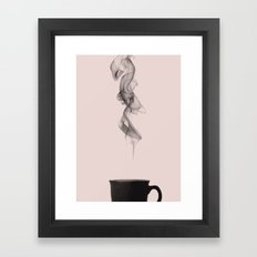 Pink coffee Framed Art Print