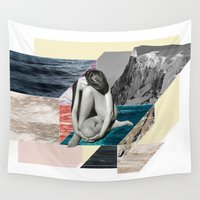 anxiety Wall Tapestries featuring Social Anxiety by Lerson