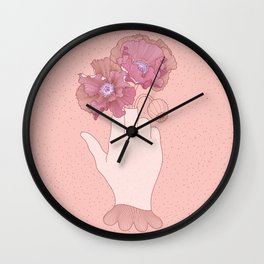 Be a flower not a weed Wall Clock