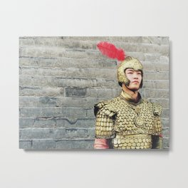 Chinese Guard Metal Print