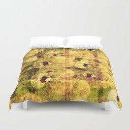 golden flower kaleidoskope Duvet Cover