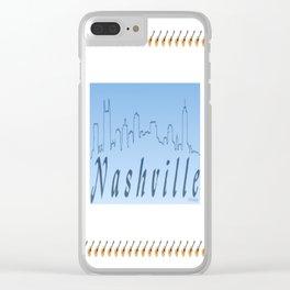 Nashville Skyline Blue Clear iPhone Case